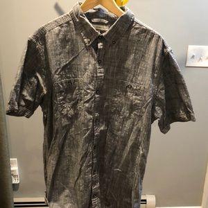 Other - Men's cotton linen like button down shirt
